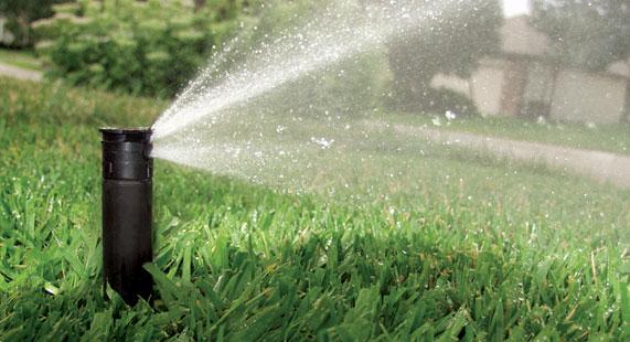 Water saving sprinkler heads and nozzles rain checks